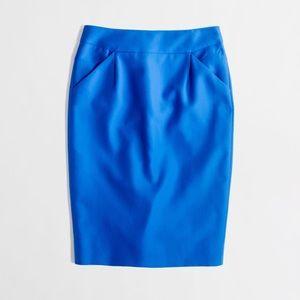 Jcrew Blue Knee Length The Pencil Skirt Size 12